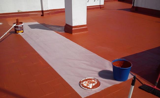 Impermeabilizaci n de cubiertas en alicante membranas de - Pintura para impermeabilizar terrazas ...